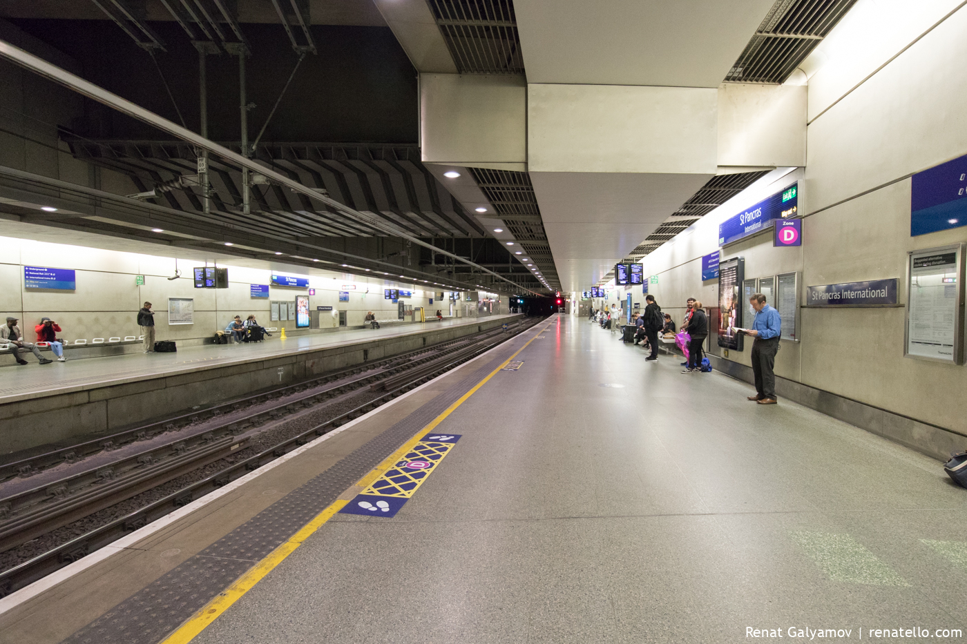Empty St Pancras International Station.