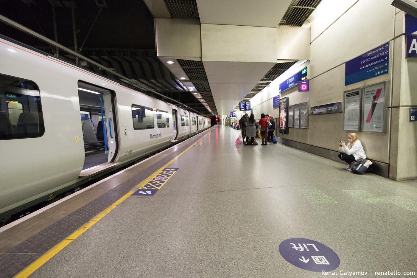 St Pancras International Station train.