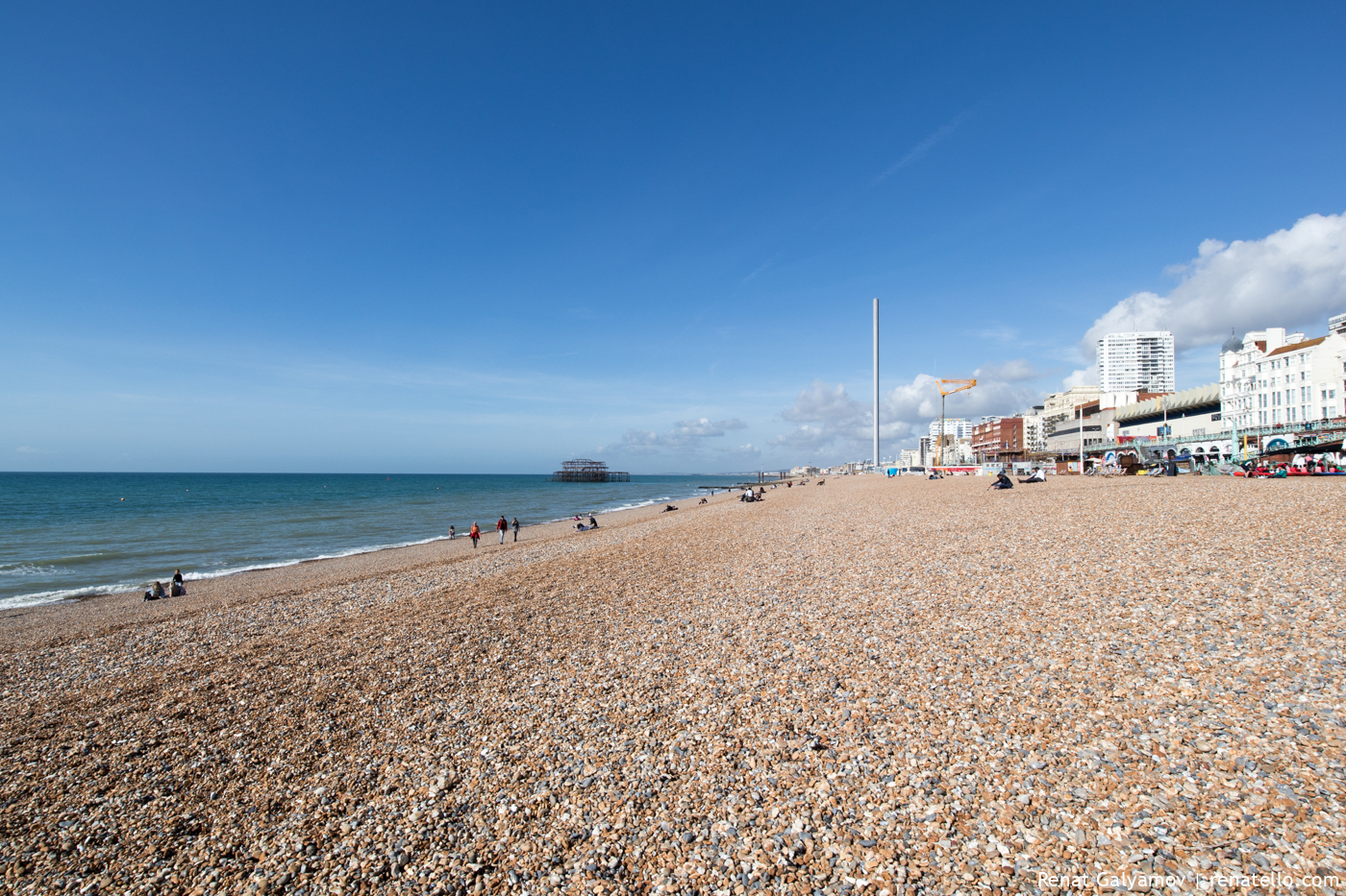 Brighton beach and seafront.