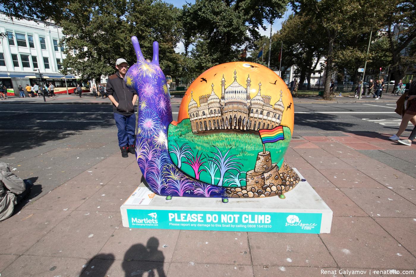 Brighton snail sculptures