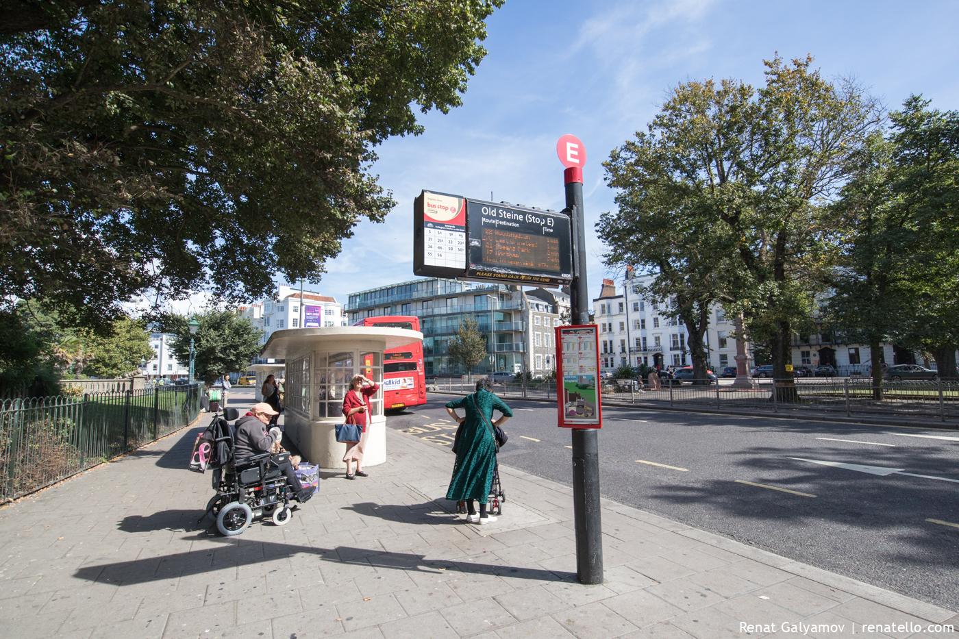 Informative bus station.
