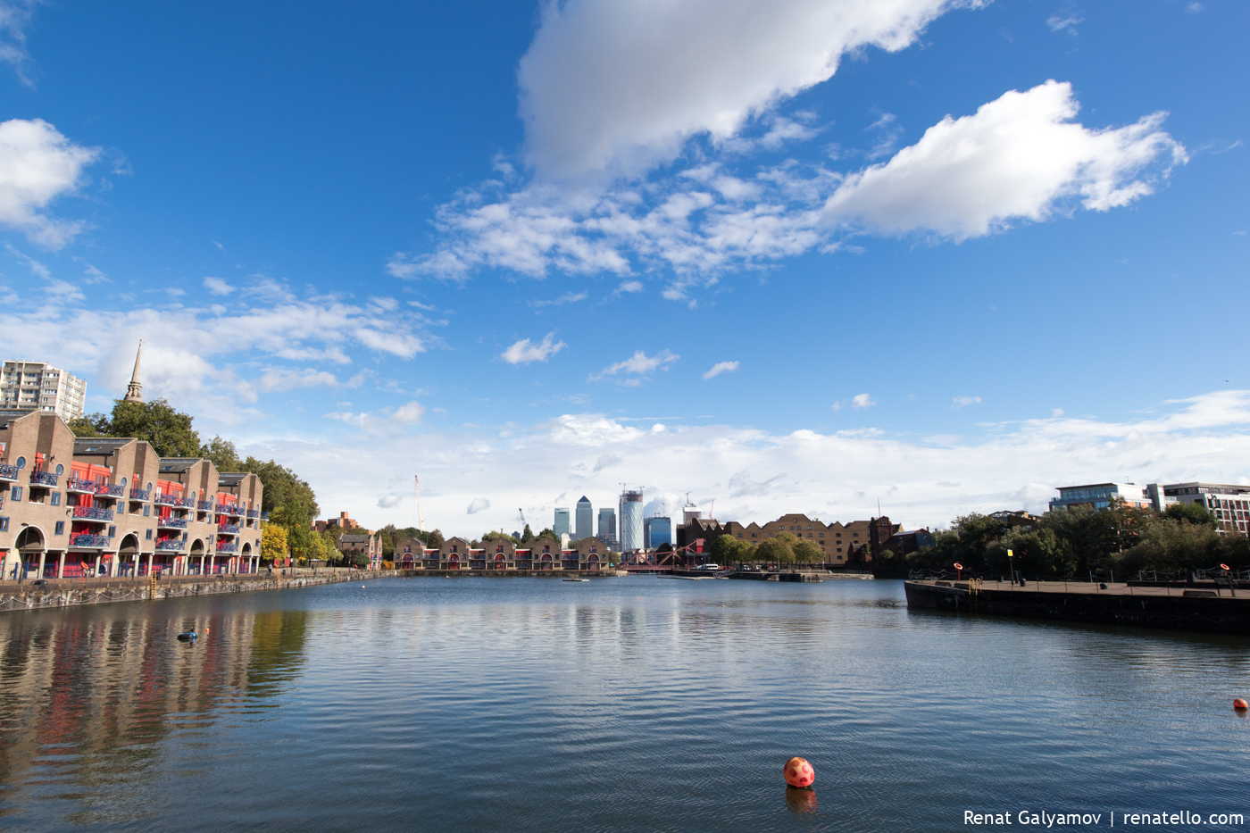 Shadwell Basin, London, Canary Wharf