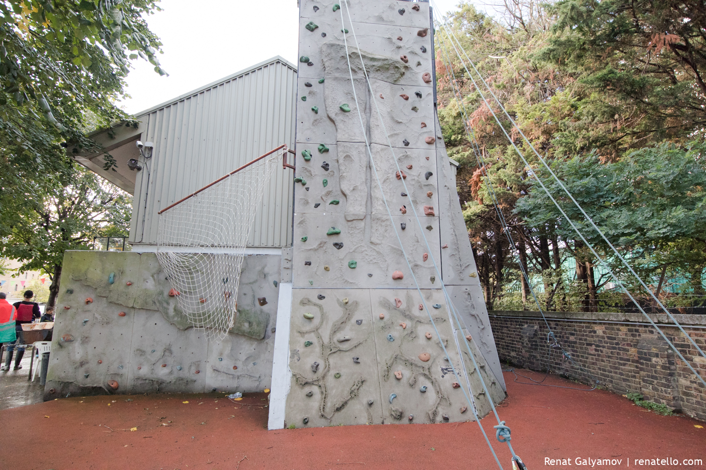 Climbing wall at Shadwell Basin Outdoor Activity Centre
