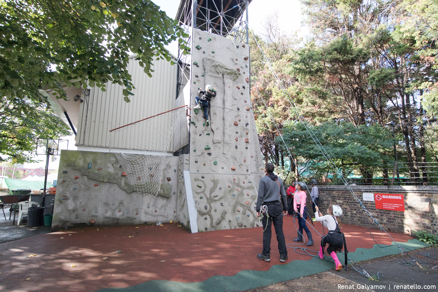 Climbing at Shadwell Basin Outdoor Activity Centre