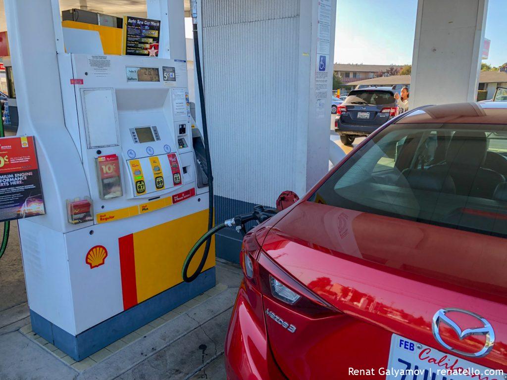 gas station in San Francisco, California