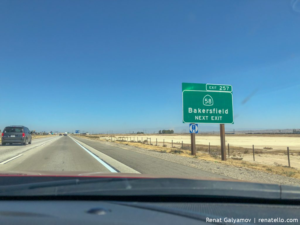 Bakersfield road sign