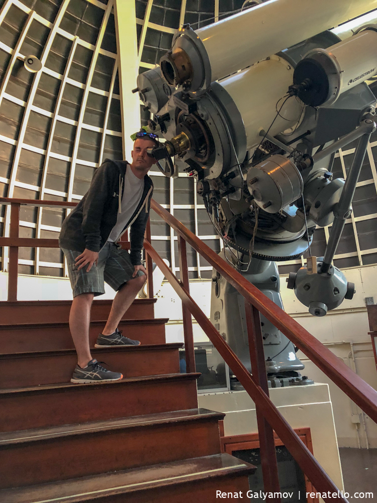 Zeiss refracting telescope, in Griffith Observatory