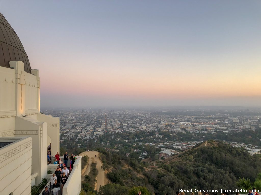 View from the Griffith Observatory over the Route 258