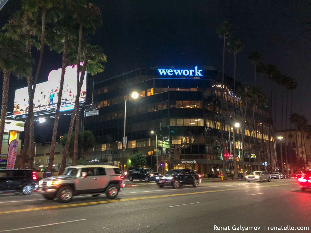 WeWork office in Hollywood Blvd.