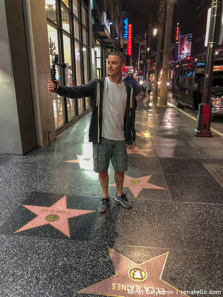 Renat on the the Hollywood Walk of Fame.