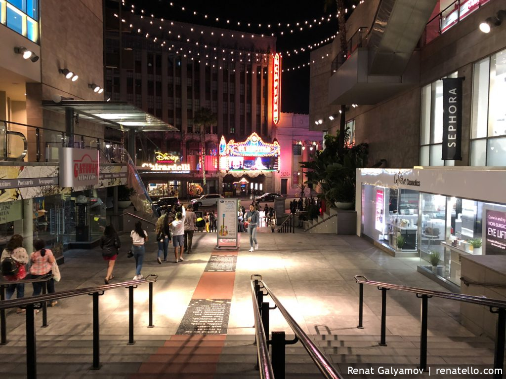 The Dolby Theatre on Hollywood Boulevard