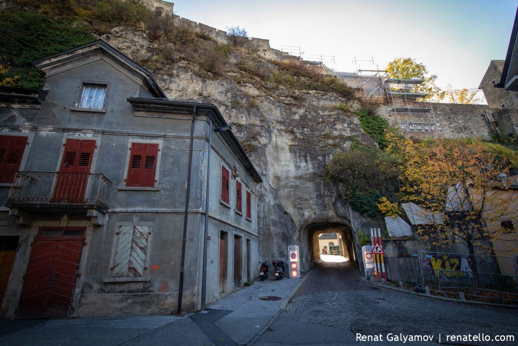 Sion tunnel in Switzerland