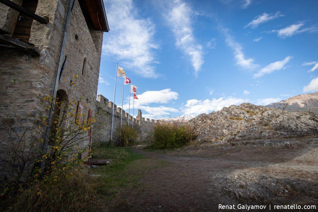 Tourbillon Castle, Château de Tourbillon ruines