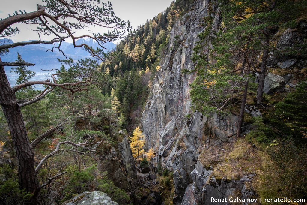 The Dailley Gorge, Gorges du Dailley mountains