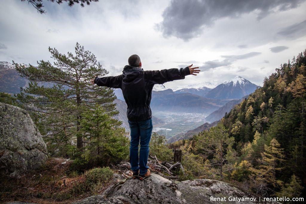Renat in Gorges du Dailley, Alps, Swizerland