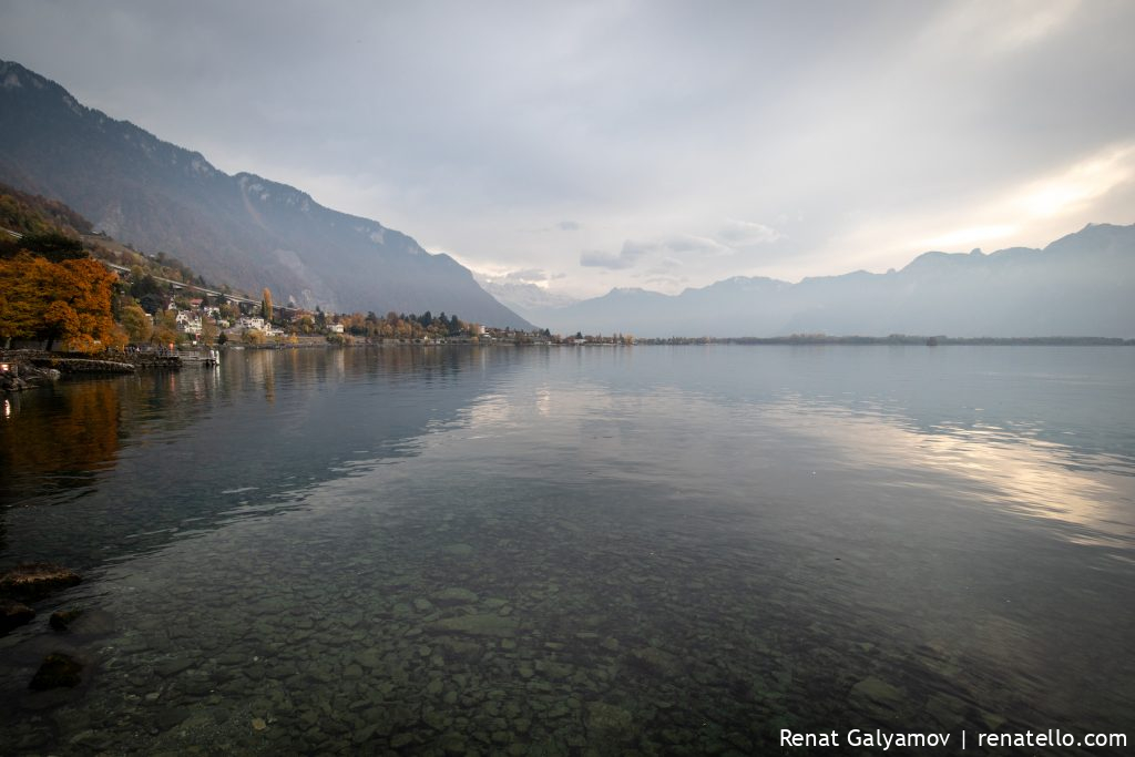 Lake Geneva from Montreux, Swizerland