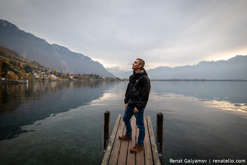 Renat Galyamov by the Lake Geneva in Montreux, Swizerland.