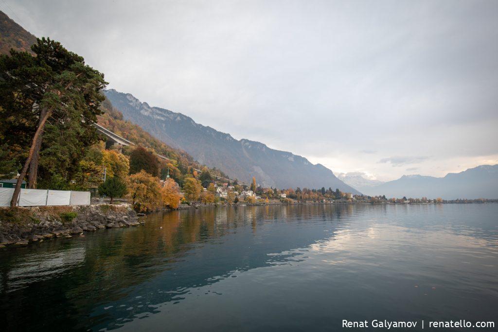 Lake Geneva (Lac Léman), Montreux, Swizerland.