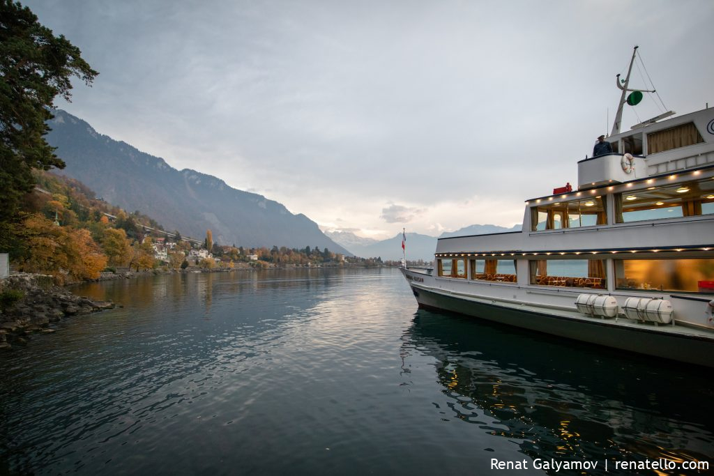 Belle Epoque - paddle steamboat in Montreux, Switzerland