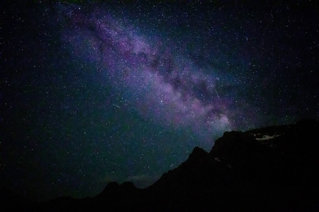 Milky Way, night sky in Almaty