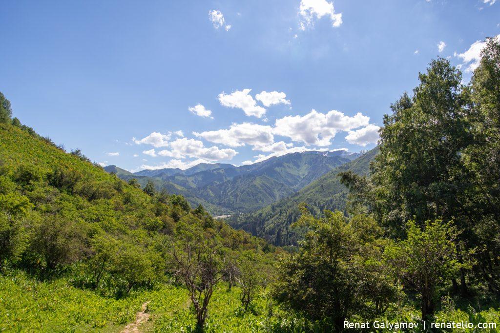 Route to Kok-Zhailau