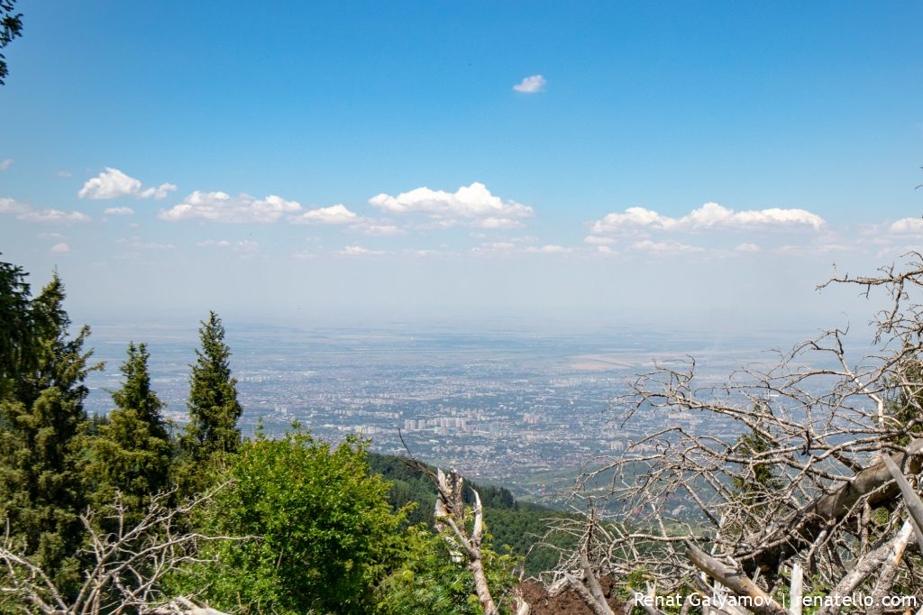 Panorama of the city of Almaty from Kok-Zhailau