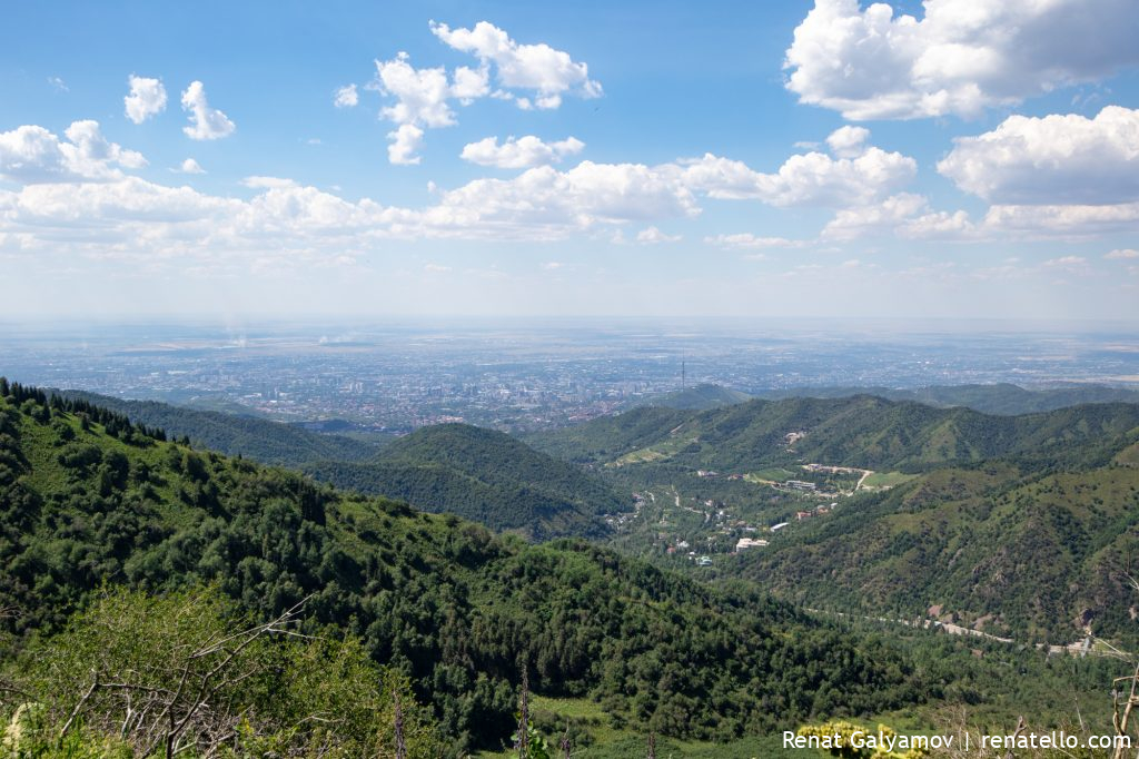 View of the city of Almaty, Kazakhstan