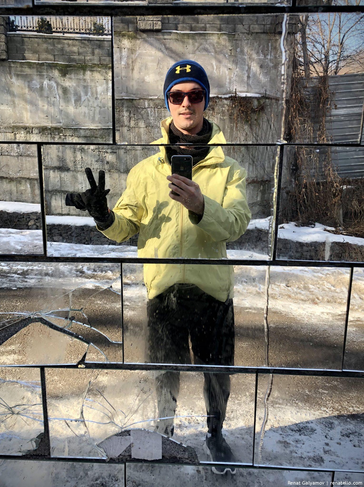Renat running in winter